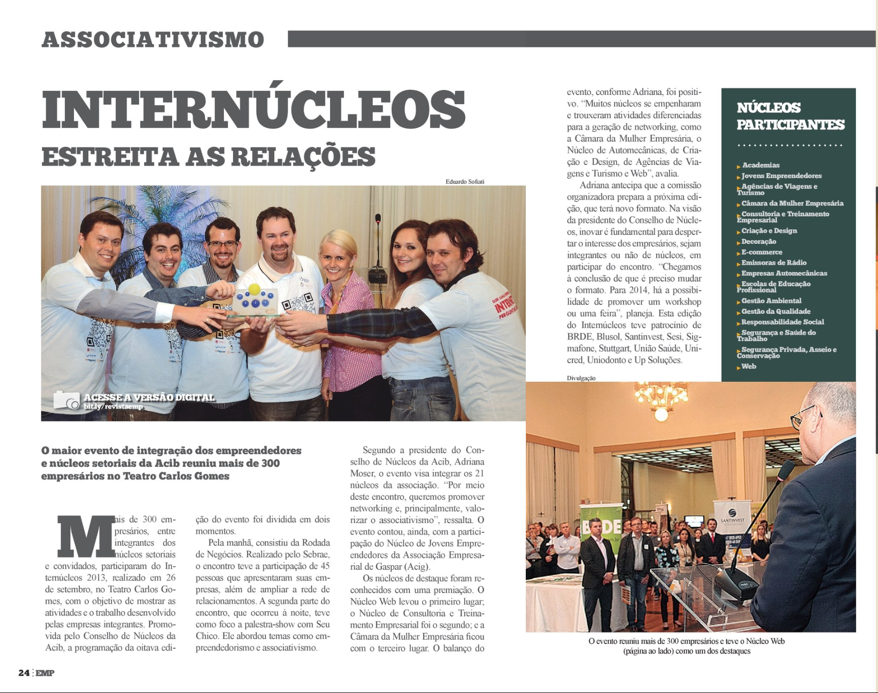 Revista Empresário direciona destaque para Núcleo Web