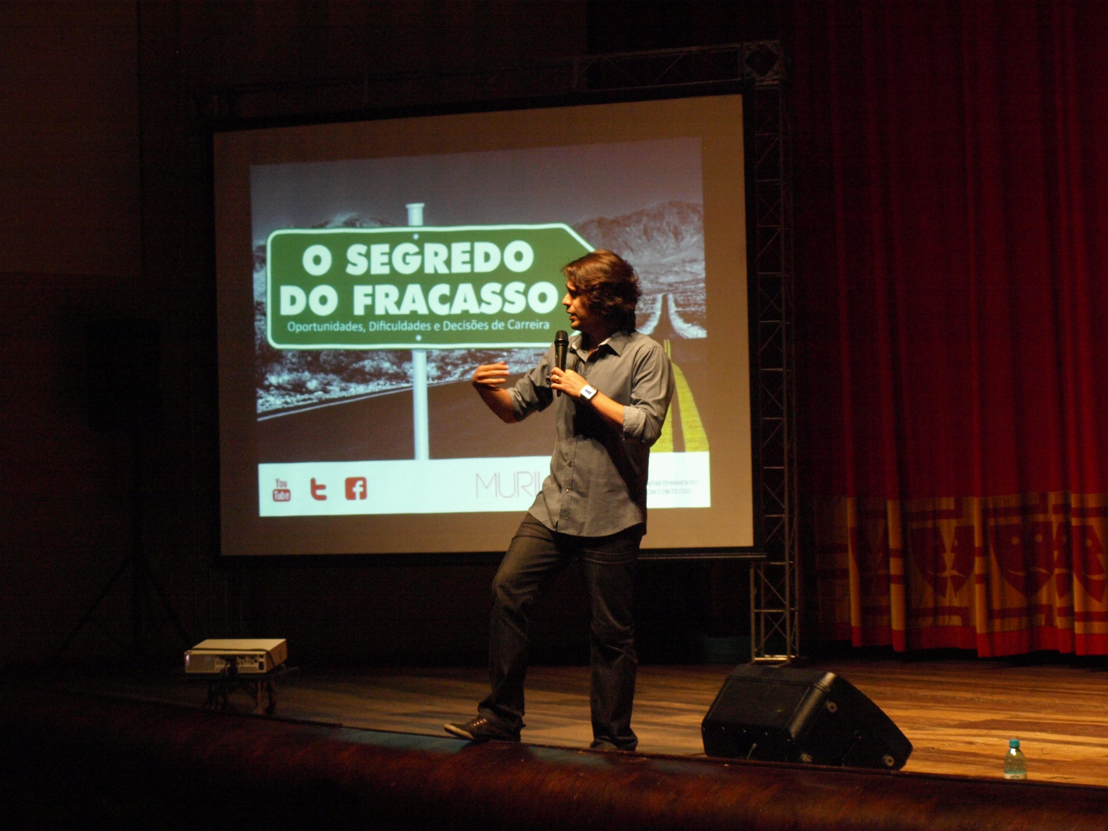 """Fotos da Palestra Show com Murilo Gun – """"O Segredo do Fracasso"""""""