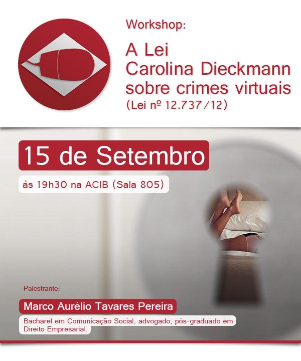 Workshop: A Lei Carolina Dieckmann sobre crimes virtuais
